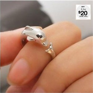 Jewelry - Dolphin Ring Silver Or Gold
